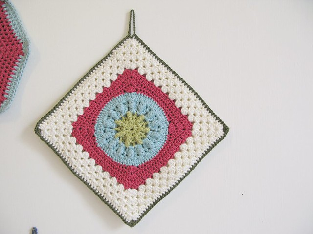 Custom crochet potholder collection by Emma Lamb
