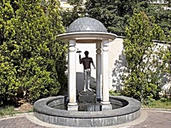 God Appolo statue at Mineral Sping Sofia Bulgaria