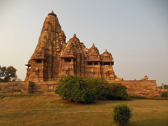 INDIA - Khajuraho Group of Monuments is a group of about 20  Hindu and Jain temples, reliefs and sculptures,  14189/7050