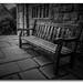 The garden bench...
