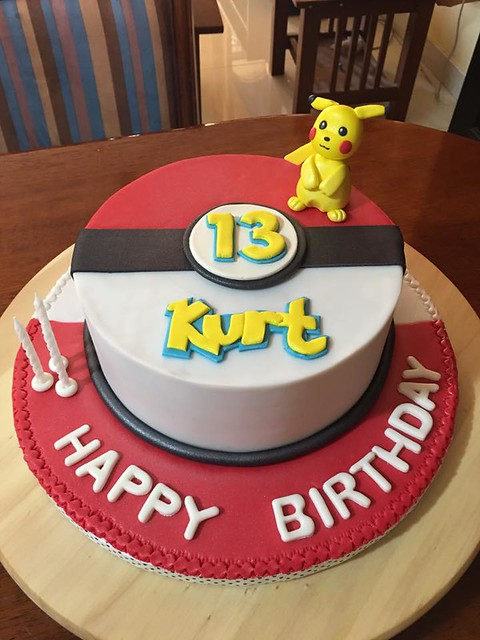 Pokemon Themed Cake by Not Just Cakes by Jac