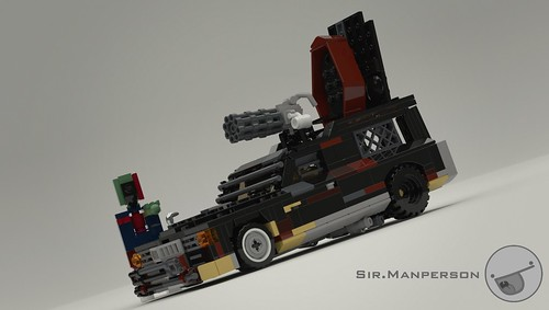 Post Apoc Hearse - Mecabricks Render - 10-wide - Lego | by Sir.Manperson
