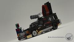 Post Apoc Hearse - Mecabricks Render - 10-wide - Lego