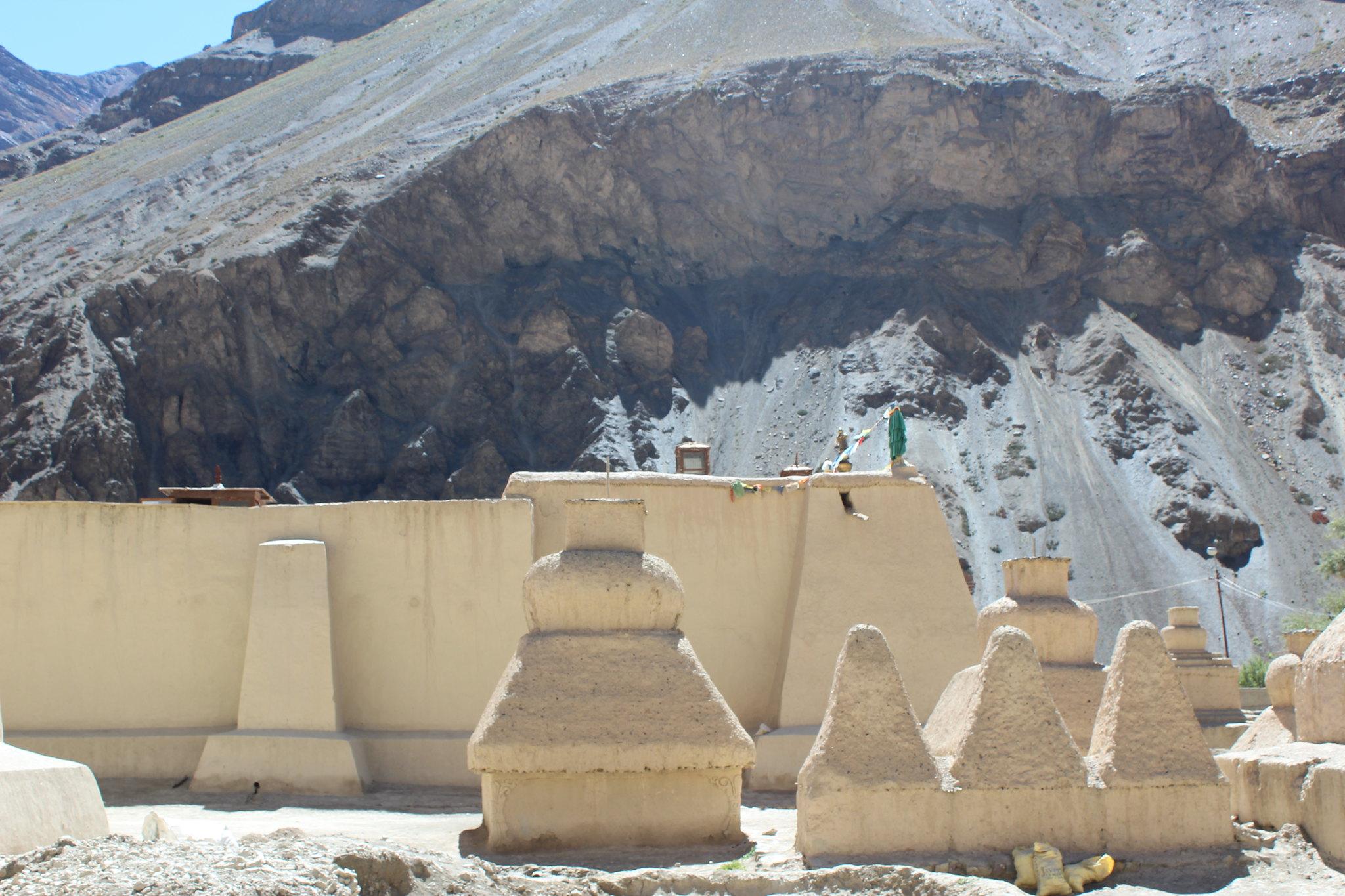 Stupas in Tabo Monastery