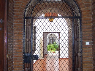Spain (Cordoba) Gateway to courtyard of a traditional house
