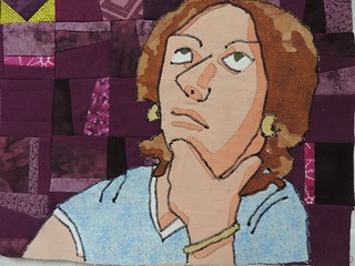 Building the appliqué Cartoon Woman Thinker