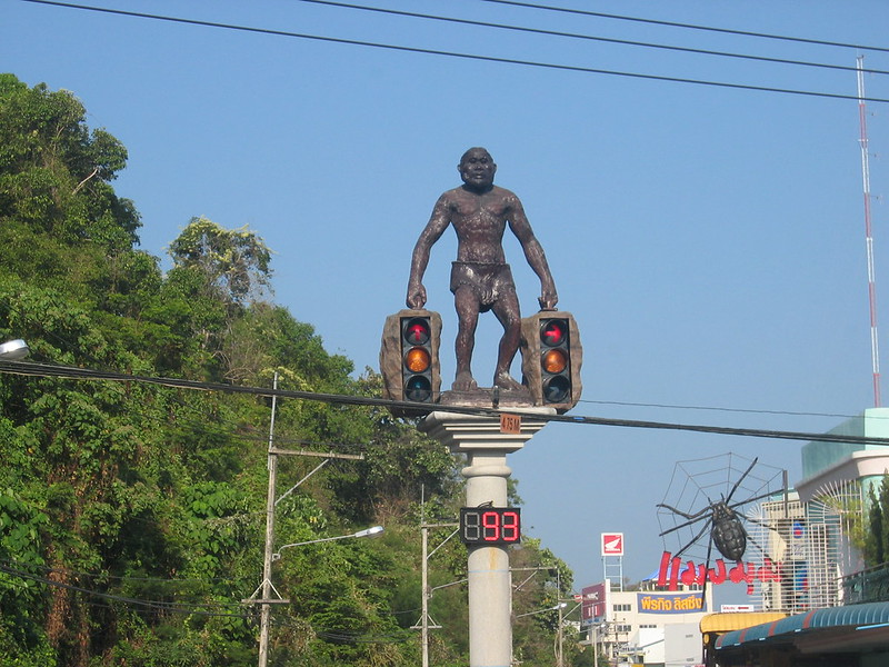 Traffic lights with a difference in Krabi - Thailand