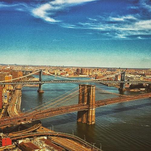 nyc bridge brooklyn square slumber squareformat brooklynbridge eastriver iphoneography instagramapp roeblingstrauss