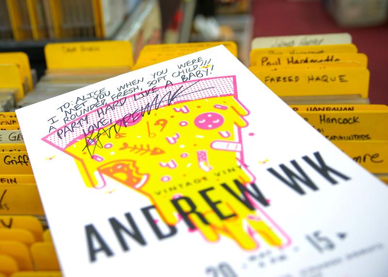 Andrew WK @ Vintage Vinyl