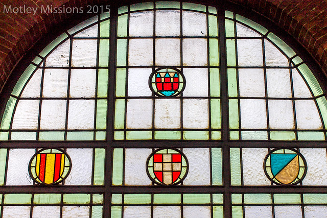 train station stained glass