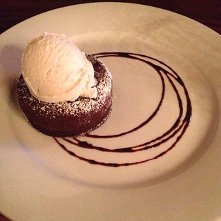 Choc lava cake at Portobello in PDX