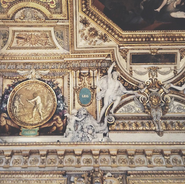 Always look up, especially in the Louvre.