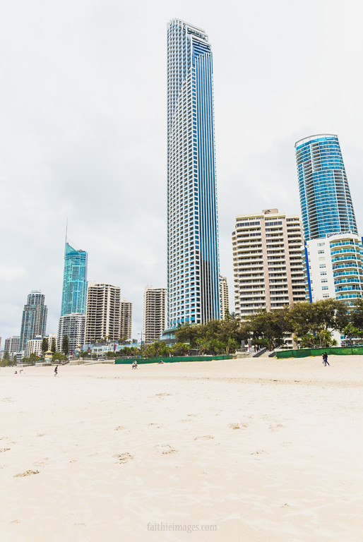 Skyscrapers along the beach in Gold Coast