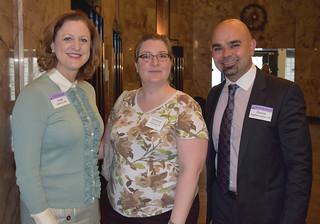 Cindy Johnson, Regan Boyce and Patrick Baghdaserians