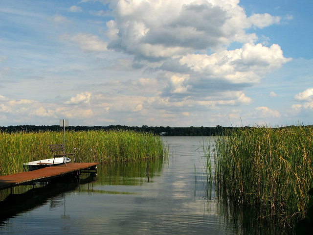Idyll at Scharmuetzelsee, Brandenburg, Germany