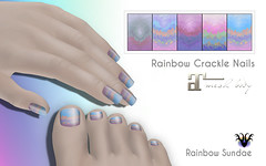 New! Rainbow Crackle Nails