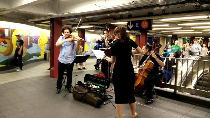 Quartet on the NYC Subway