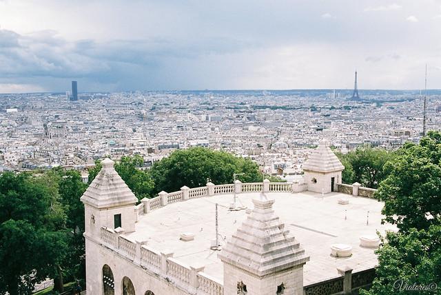 Вид с базилики Сакре-Кёр. Париж. Basilique du Sacré Cœur. Paris. Farnce