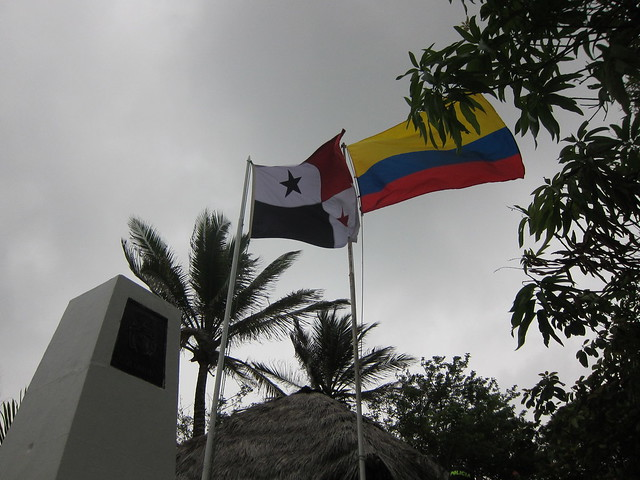 Walking over the Colombia/Panama Border