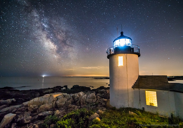 Goat Island Lighthouse at Night