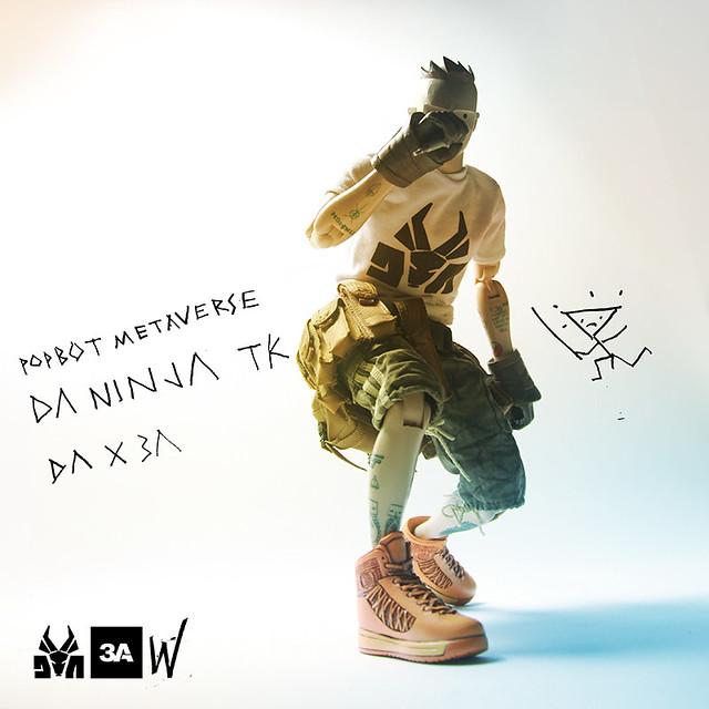 threeA【回答樂團:忍者明日帝】Die Antwoord Ninja TK 1/6 比例人偶作品