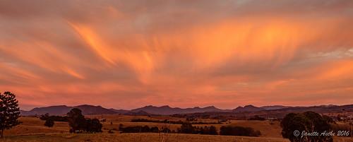 pink sky orange clouds rural sunrise landscape australia farmland qld queensland 2016 scenicrim seqld sonya7r