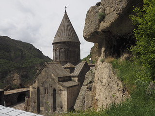 Image of Geghard Monastery near Goght'.