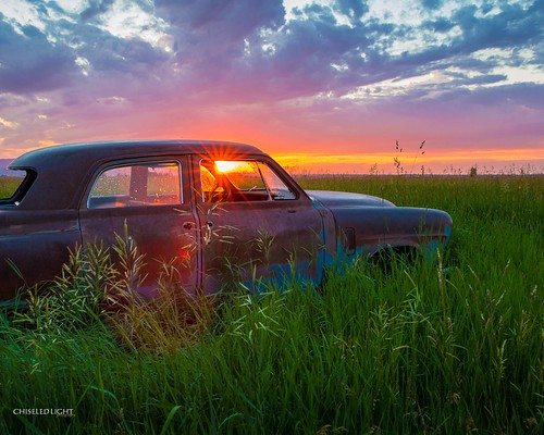 old sunset abandoned field car rural sunrise junk rust rusty rustbucket rusted