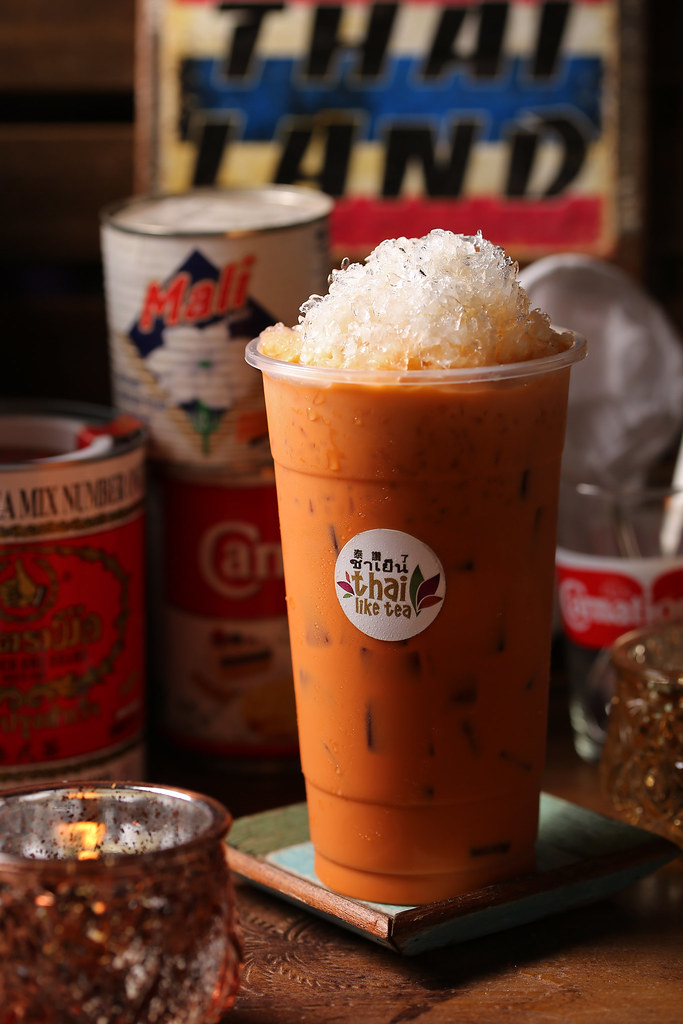 thai drinks milk tea  ชา เย็น