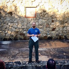 Me, leading and teaching an Interfaith Worship service for An Introduction to Outdoor Leadership Skills course.