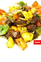 黑椒牛仔粒 (Blackpepper Stir-Fried Beef Cubes…