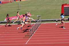 middle-distance running(0.0), 4 㗠100 metres relay(0.0), 800 metres(0.0), physical exercise(0.0), sprint(1.0), racing(1.0), steeplechase(1.0), athletics(1.0), track and field athletics(1.0), 110 metres hurdles(1.0), championship(1.0), obstacle race(1.0), 100 metres hurdles(1.0), sports(1.0), running(1.0), recreation(1.0), outdoor recreation(1.0), hurdle(1.0), heptathlon(1.0), person(1.0), hurdling(1.0), athlete(1.0),