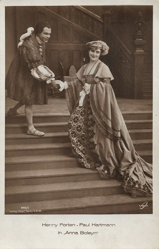 Henny Porten and Paul Hartmann in Anna Boleyn