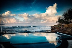 View of the ocean from our infinity pool on Lembongan Island, Bali, Indonesia. Okay, we weren't exactly roughing it this time. • • • • • #ocean #travel #clouds #artofvisuals #athomeintheworld #awesome_earthpix #awesome_photographers #awesomeearth #awesome