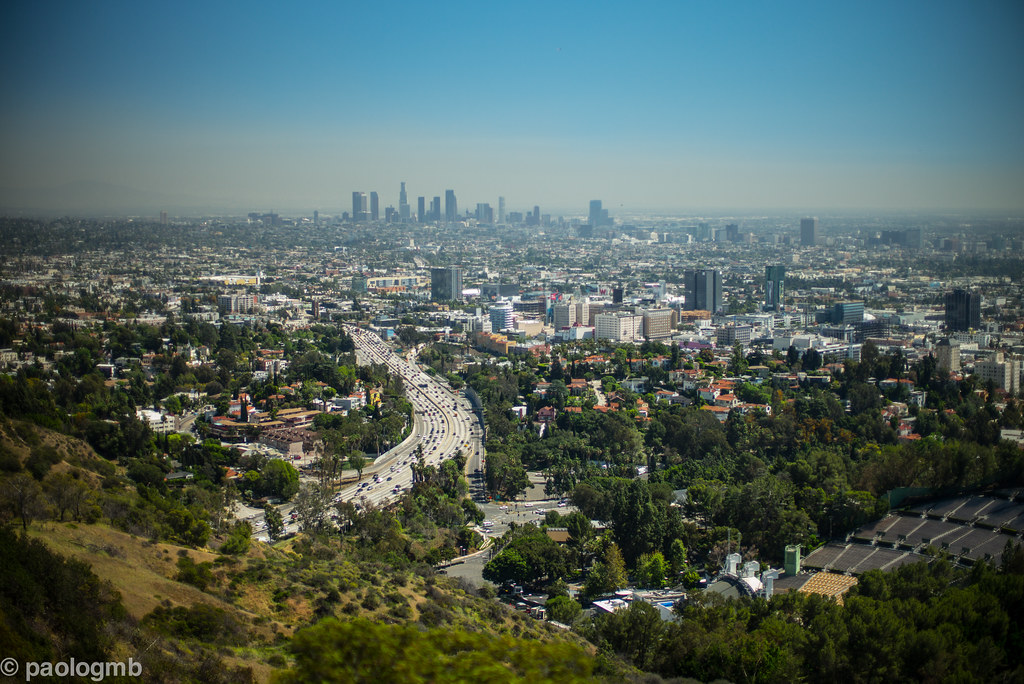 Camping à Los Angeles : Vue panoramique de LA - Photo de Paolo Gamba