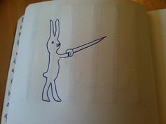 Fencing bunnies