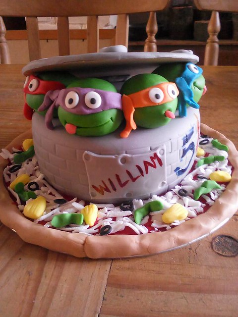 Ninja Turtle Inspired Cake by Claire Jolly