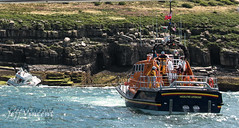 Motor Cruiser 'Le Babe' (no casualties) Moelfre and Beaumaris lifeboats were in attendance