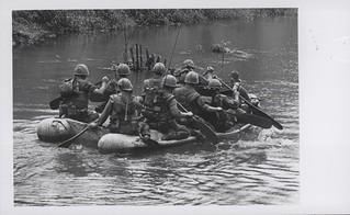 Marines Cross River Via Rubber Raft, 20 April 1967