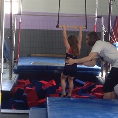 Gymnastics party!  Ash had a blast!  #sobig #sobrave #gymnast