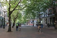 Occidental Avenue in Pioneer Square