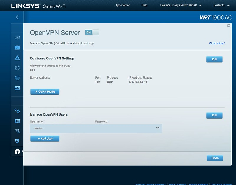 WRT1900AC - OpenVPN Settings