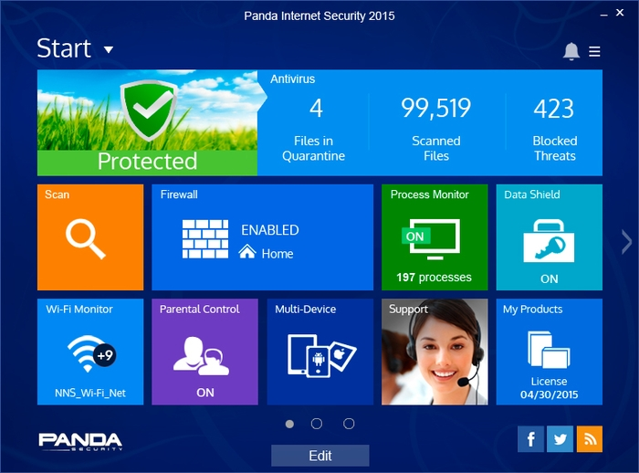 Panda Internet Security 2015 v15.0.1 Full