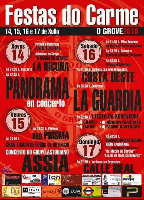O Grove 2016 - Festas do Carme - cartel