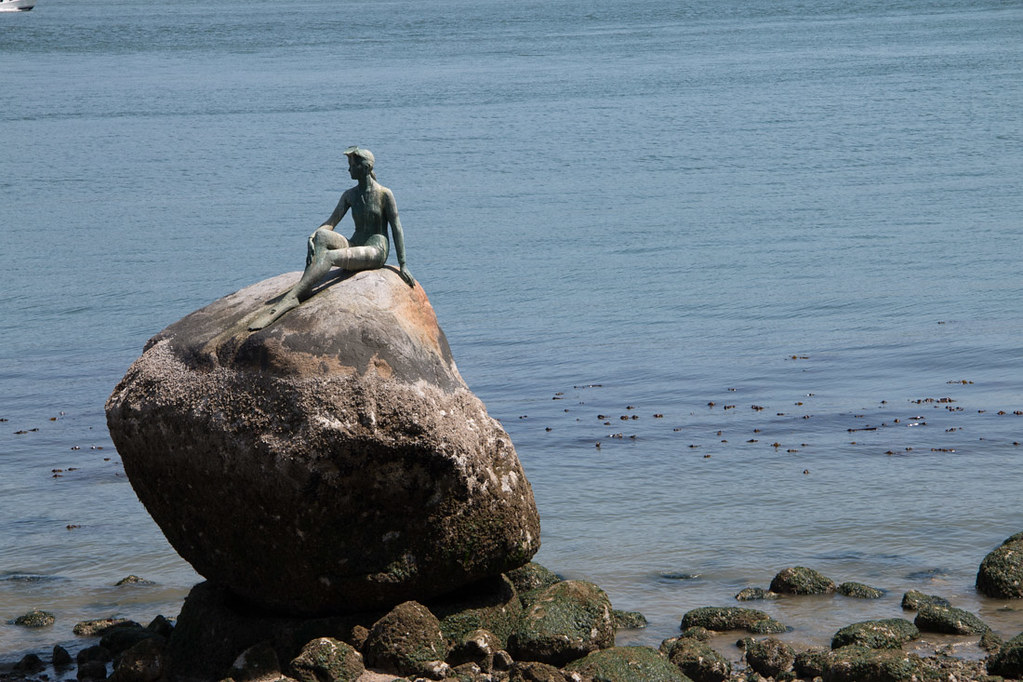 Girl in a Wetsuit Sculpture in Stanley Park | Vancouver Statues