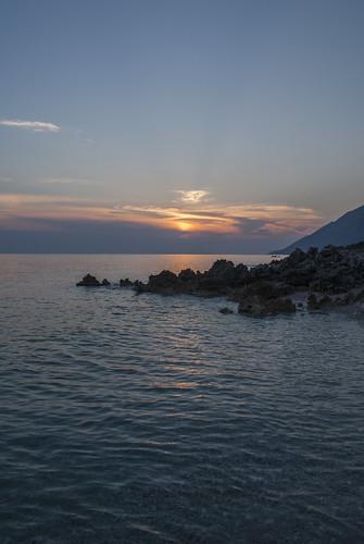 dhërmi plazh shqipëri albania valora vlora valeria morrone nikon d60 tramonto sunset muzg jon deti