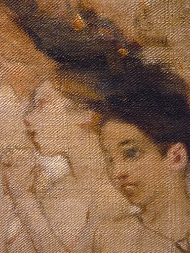 WILLETTE Adolphe,1884 - Parce Domine (Montmartre) - Detail 153
