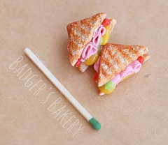 grilled cheese and ham in 1/6 scale