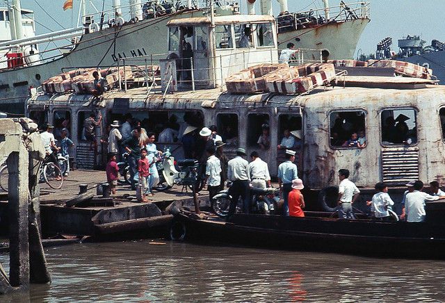 Saigon Mar 1969 - Ferry on Saigon River - by Brian Wickham