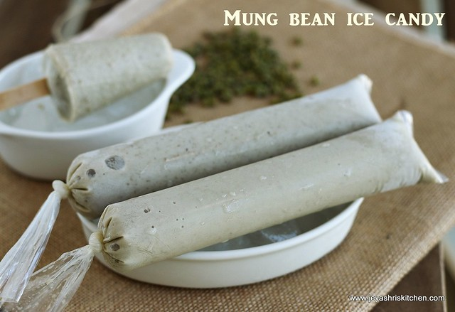Moong bean-ice cream